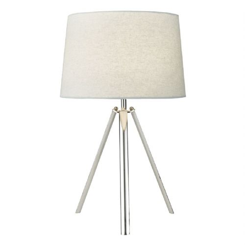 Griffith Table Lamp Polished Chrome complete with Shade (Double Insulated) BXGRI4250-17